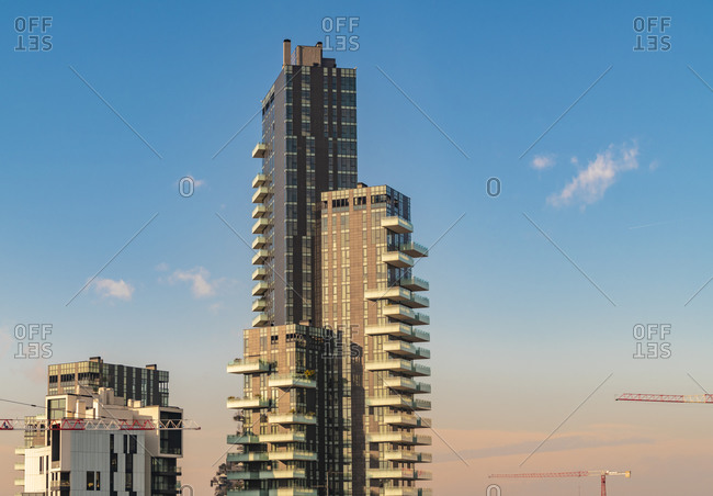 Porta Garibaldi financial district business center with modern towers