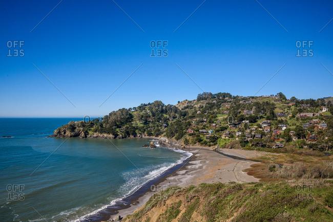 Muir Beach and the surrounding neighborhood in Sausalito, CA