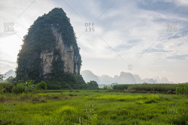 """the limestone rock """"the Egg"""" close to Yangshuo"""