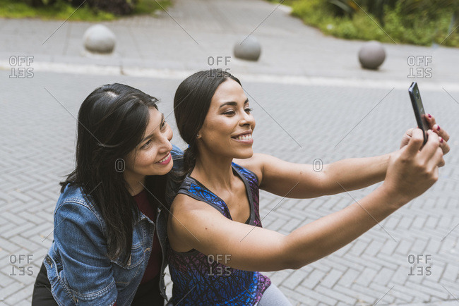 two college girl taking a selfie