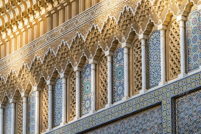Morocco- Fes-Meknes- Fes- Ornate gate of Dar al-Makhzen palace