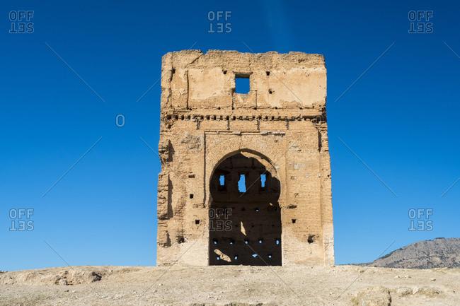 Morocco- Fes-Meknes- Fes- Ruins of Marinid Tombs