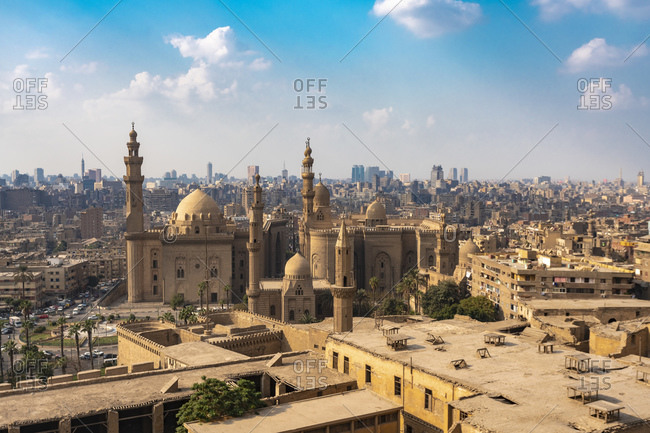 Egypt- Cairo-SalahElDeenSquare withMosque-Madrassaof SultanHassanand AlRefaaiMosque