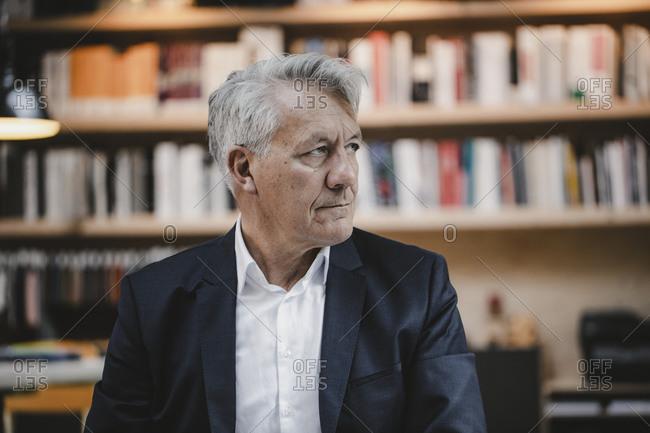 Senior businessman looking worried- portrait