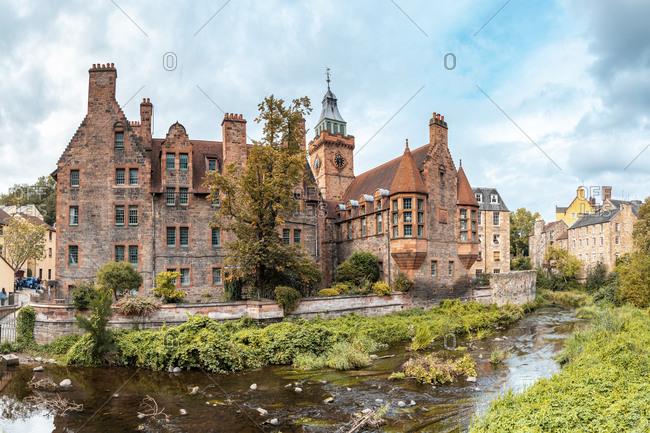 UK- Scotland- Edinburgh- Historic building ofDean Village