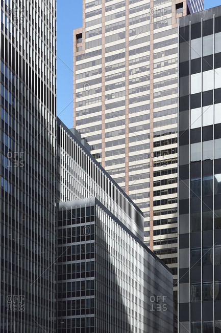 USA, Office buildings in financial district
