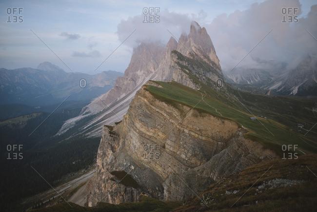 Italy, Dolomite Alps, Seceda mountain, Scenic view of Seceda mountain in Dolomite Alps