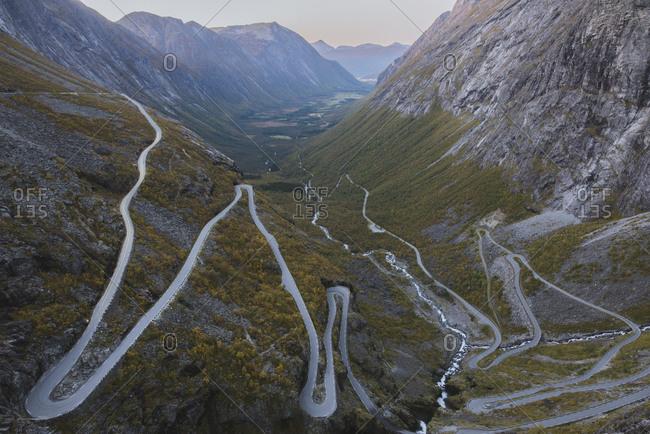 Norway, Andalsnes, Trollstigen, Scenic view of Trollstigen road