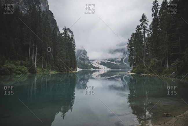 Italy, Scenic view at Pragser Wildsee
