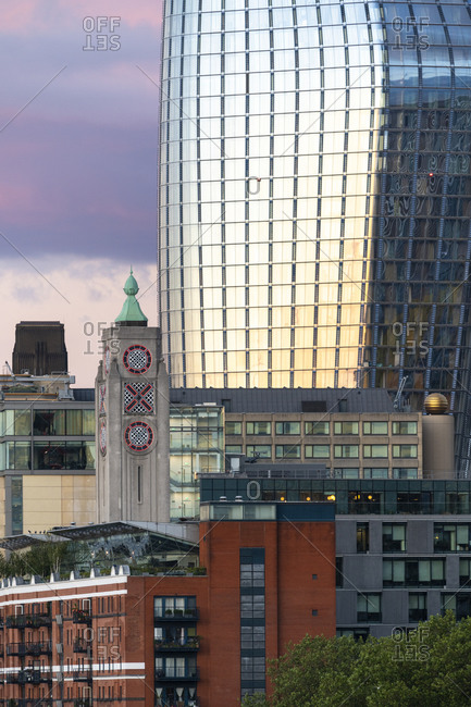 London, United Kingdom - July 6, 2020: Blackfriars tower and the Oxo tower in London