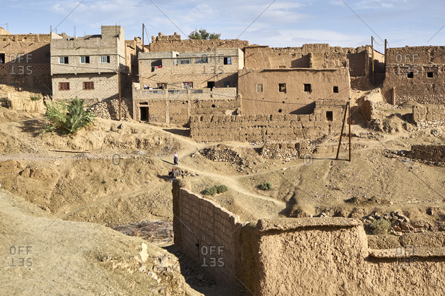 Remains of the Kasbah of Tiliouine near Agdz, Morocco
