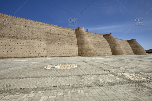 The Ark of Bukhara is a massive fortress located in the city of Bukhara, Uzbekistan