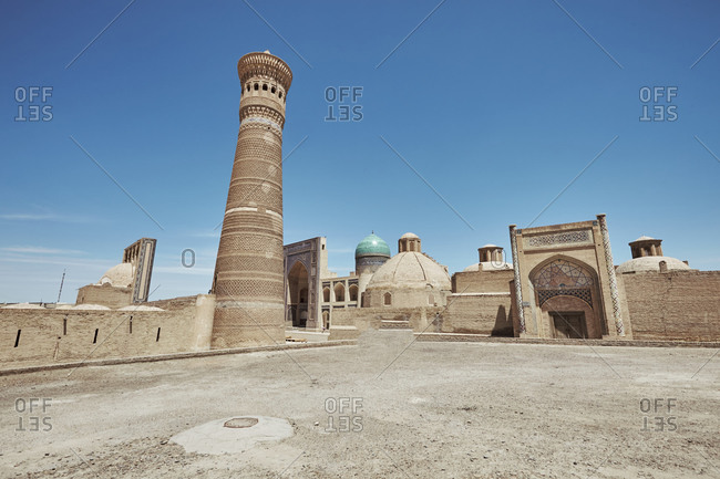 Poi Kalan and the Kalan minaret in Bukhara, Uzbekistan