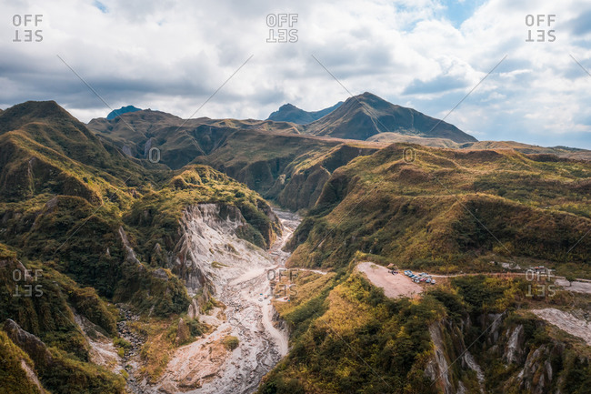An aerial view of crater of Mount Pinatubo in Zambales that erupted in 1991.