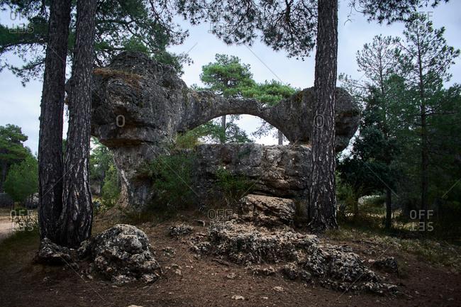 """Rock in the natural landscape """"La ciudad encantada"""" in Cuenca (Spain)"""