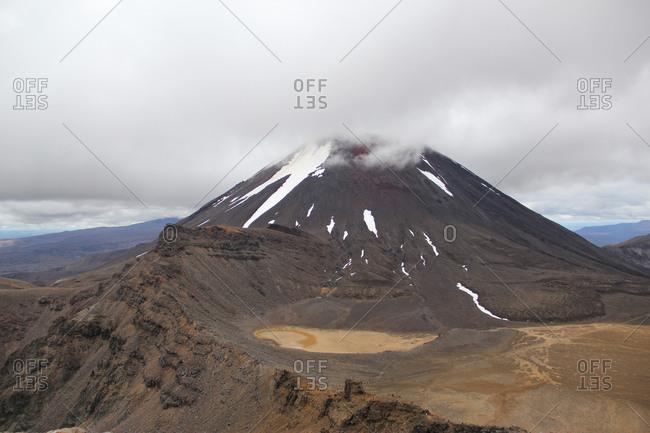 Volcano Mt Ngauruhoe (Mt Doom) in Tongariro National Park, New Zealand