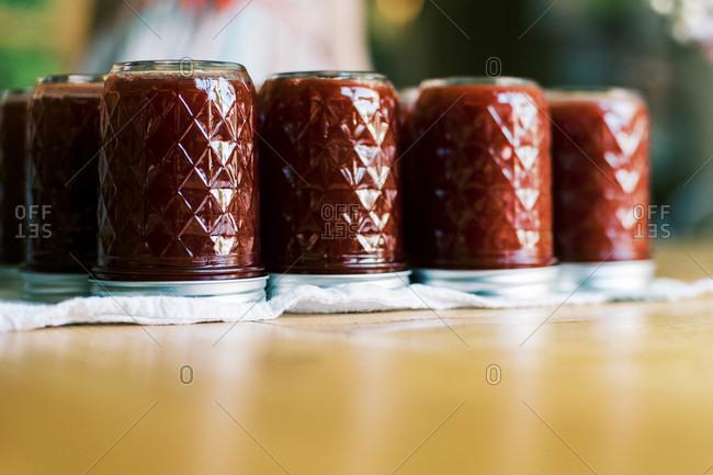 Flaminius or German plum jam made at home