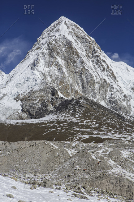 A Himalayan peak along the trail to Everest Base Camp in Nepal.