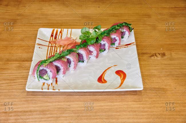 A Asiatic food Tuna Wakome