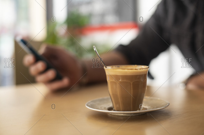 Break time at work for coffee and chat
