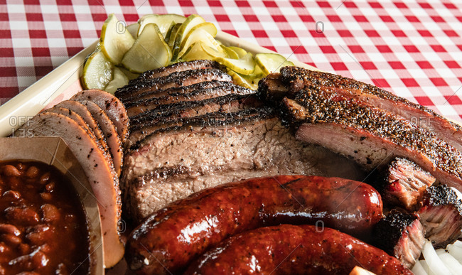 Closeup Shot of Texas Style Barbecue