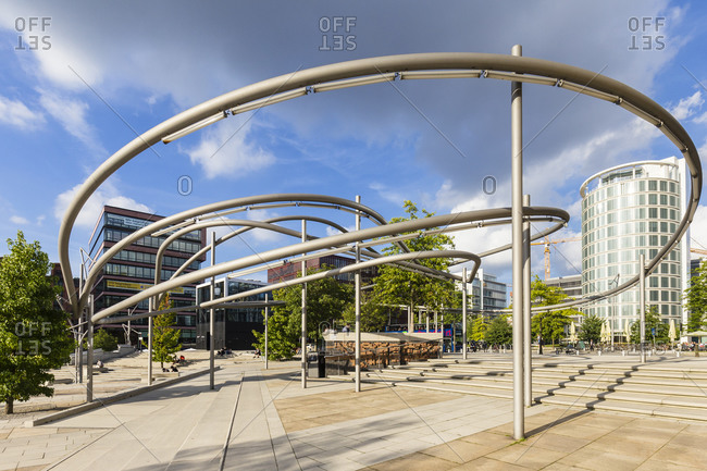 August 23, 2016: Modern Architecture at the Magellan Terraces, HafenCity, harbor, Hamburg, Germany