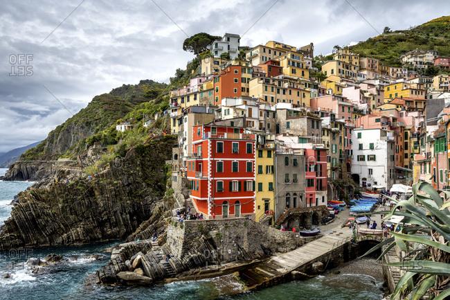 May 20, 2019: Riomaggiore, Cinque Terre, La Spezia, Liguria, Italy
