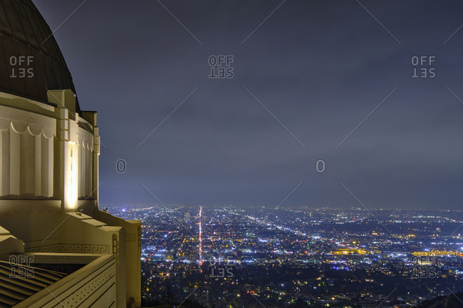September 26, 2019: USA, United States of America, California, Los Angeles, Downtown, Hollywood, Beverly Hills, view from Griffith Observatory by night