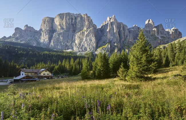 September 3, 2019: Sella Ronda, South Tyrol, Italy