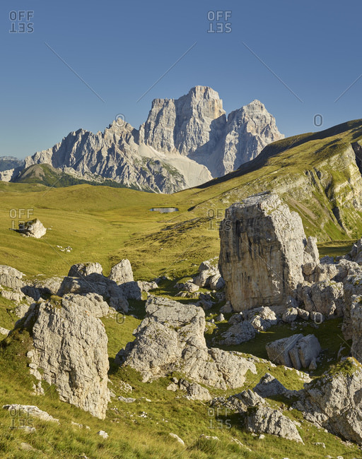 Vast mountainscape in Monte Pelmo, Veneto, Italy