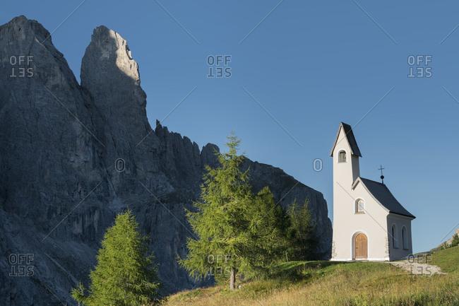 Cappella di San Maurizio, Grodner Joch, Sella Stock, South Tyrol, Italy