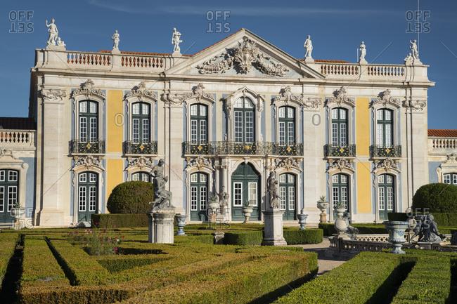 October 6, 2019: Palacio Nacional de Queluz, Lisbon, Portugal