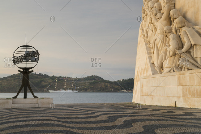 October 2, 2019: Monument to the Discoveries, Belem, Lisbon, Portugal