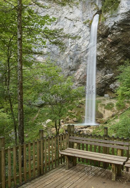 Wildenstein Waterfall in Carinthia, Austria