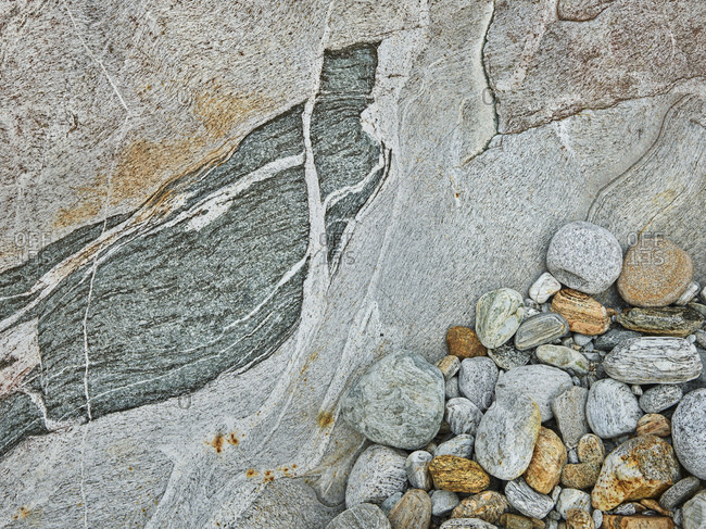 Rocks in the Verzasca Valley, Ticino, Switzerland