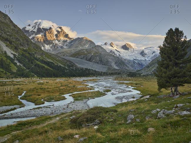 Val Roseg, Piz Bernina, Graubunden, Switzerland