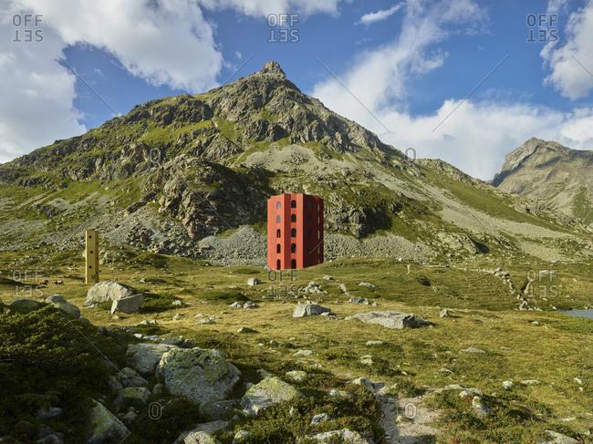 August 30, 2019: Origen, Juliertheater, Julierpass, Graubunden, Switzerland