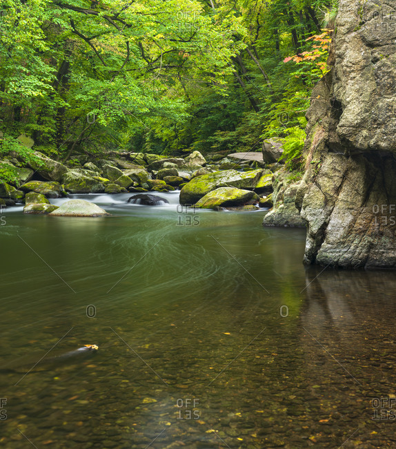 Germany, Saxony-Anhalt, Harz, autumn in the Bodetal between Thale and Treseburg