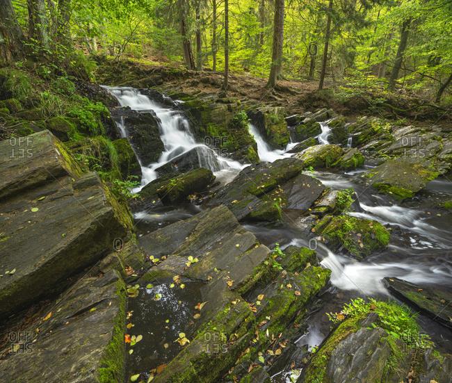 Germany, Saxony-Anhalt, Alexisbad, Harz, Selke waterfall
