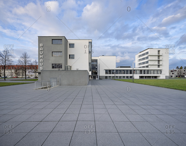 December 23, 2019: Germany, Saxony-Anhalt, Dessau-Rosslau, The Bauhaus Dessau, UNESCO World Heritage