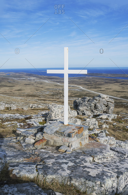 War memorial, East Falkland, Falkland Islands, South Atlantic, South America