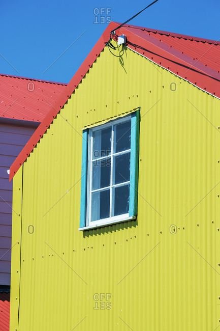 Colorful house, Stanley, East Falkland, Falkland Islands, South Atlantic, South America