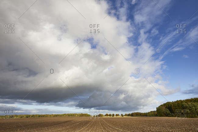 Germany, Mecklenburg-West Pomerania, landscape, field, clouds
