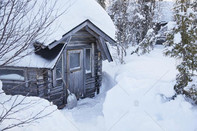 Finland, Lapland, Kota, winter cabin