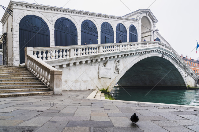 Rialto Bridge, Venice, historic center, island, Veneto, Italy, northern Italy, Europe