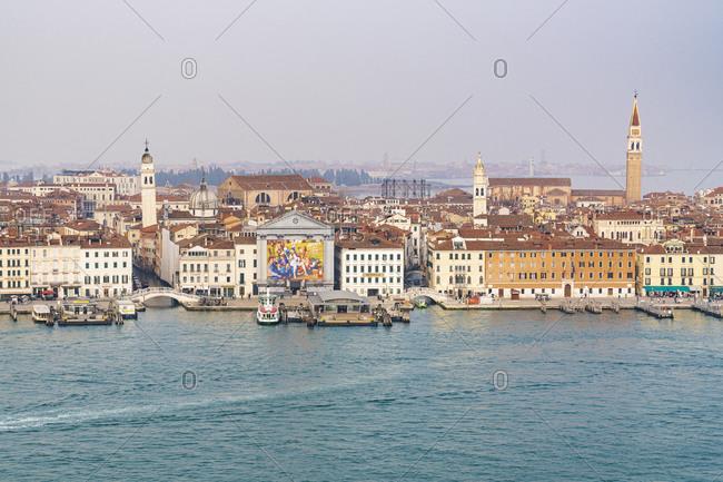 February 2, 2020: Skyline, Venice, historic center, island, Veneto, Italy, northern Italy, Europe