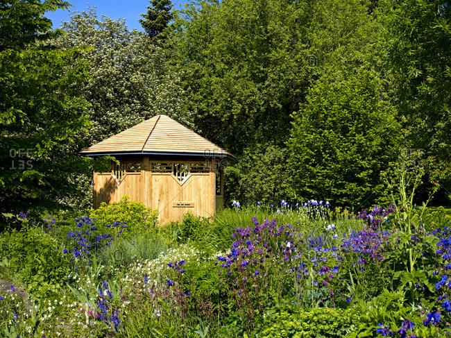 March 4, 2011: Europe, Germany, Hesse, Marburg, botanical garden of the Philipps University, bee pavilion