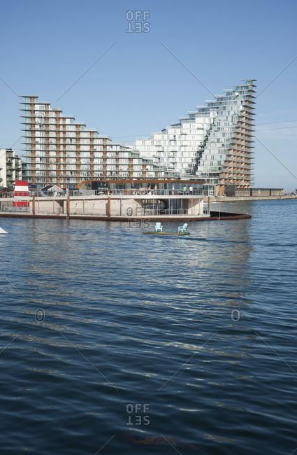 January 3, 2007: Denmark, Aarhus, Havnebadet waterskiing facility