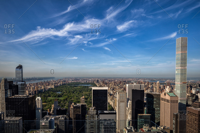 May 12, 2016: America, USA, New York City, Manhattan, Central Park view