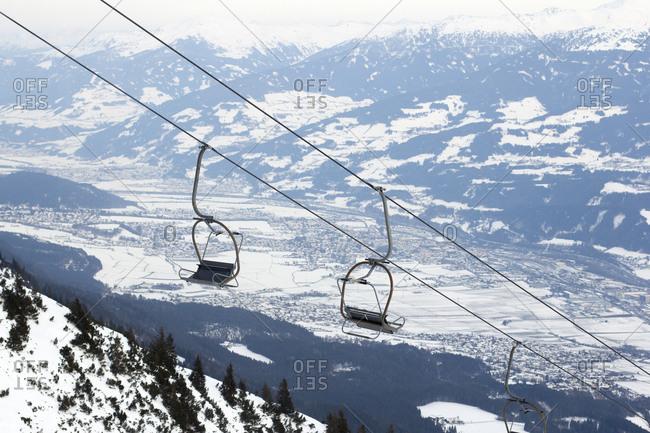 Chair lift on the Nordkette Innsbruck